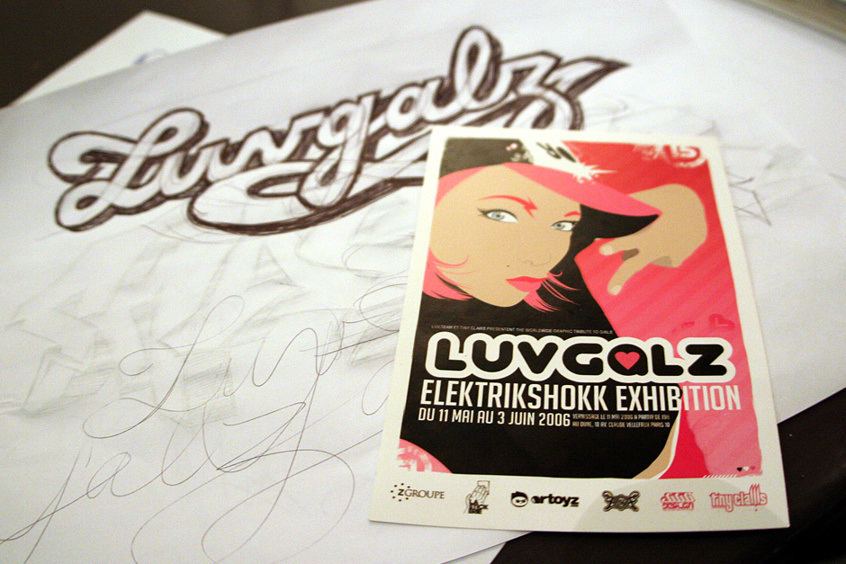 Luvgalz exhibition flyer