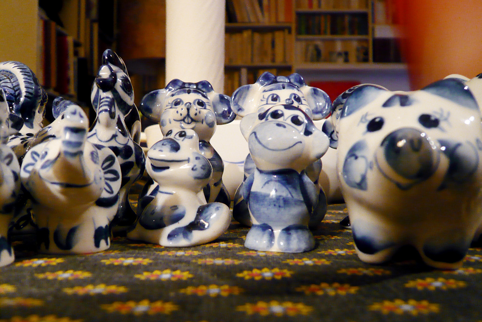 Porcelain monkey and friends