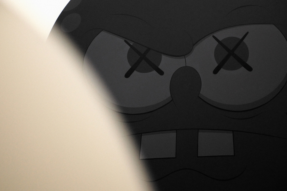 Black spongebob by Kaws