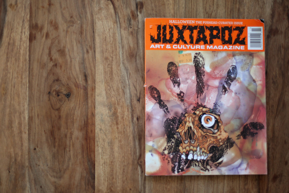 "Book of the week ""Juxtapoz"" Pushead issue"