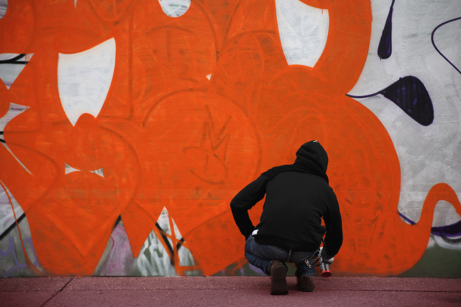 Orange throw-up