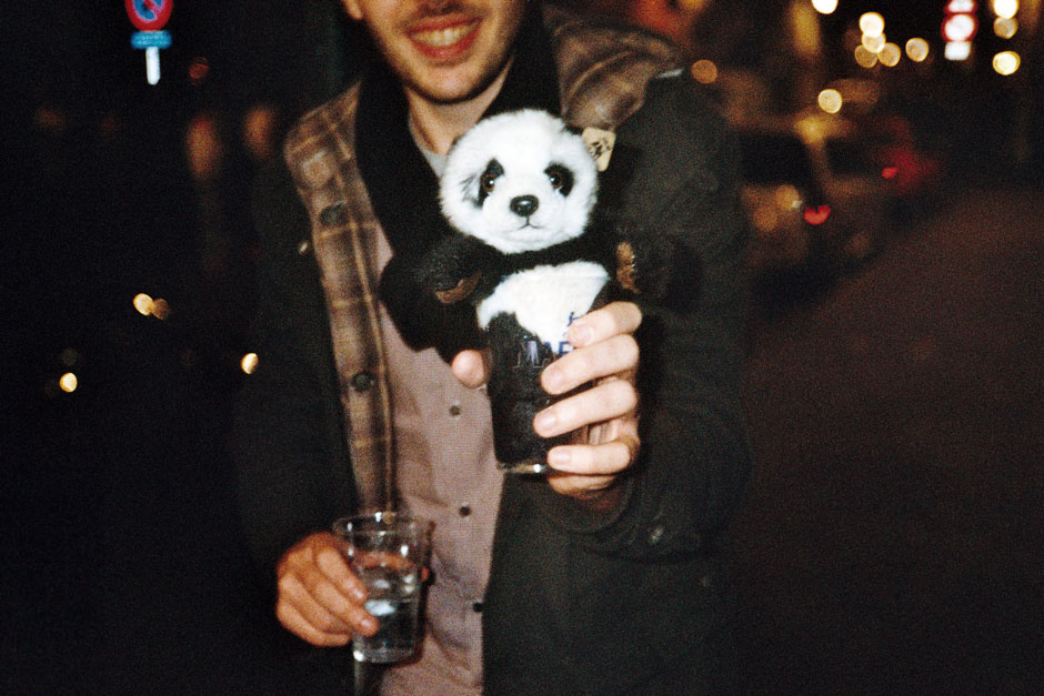 Two glasses, one panda
