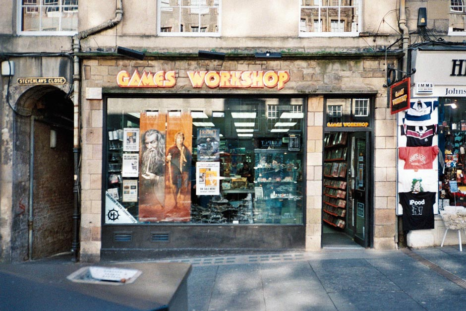 Games Workshop in Edinburgh