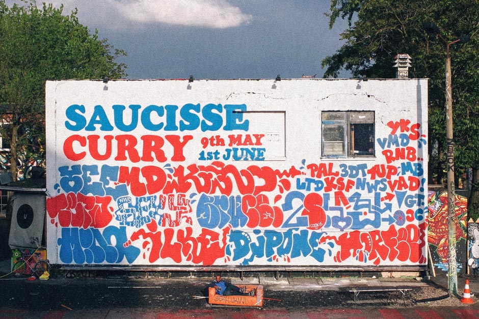 Saucisse Curry wall