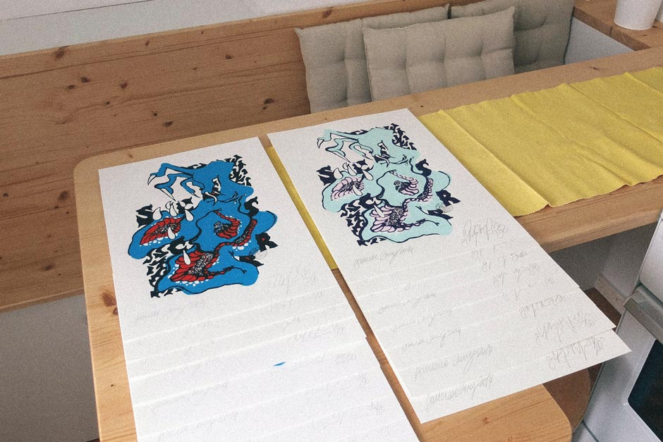 Ilk screenprints for Urban Spree