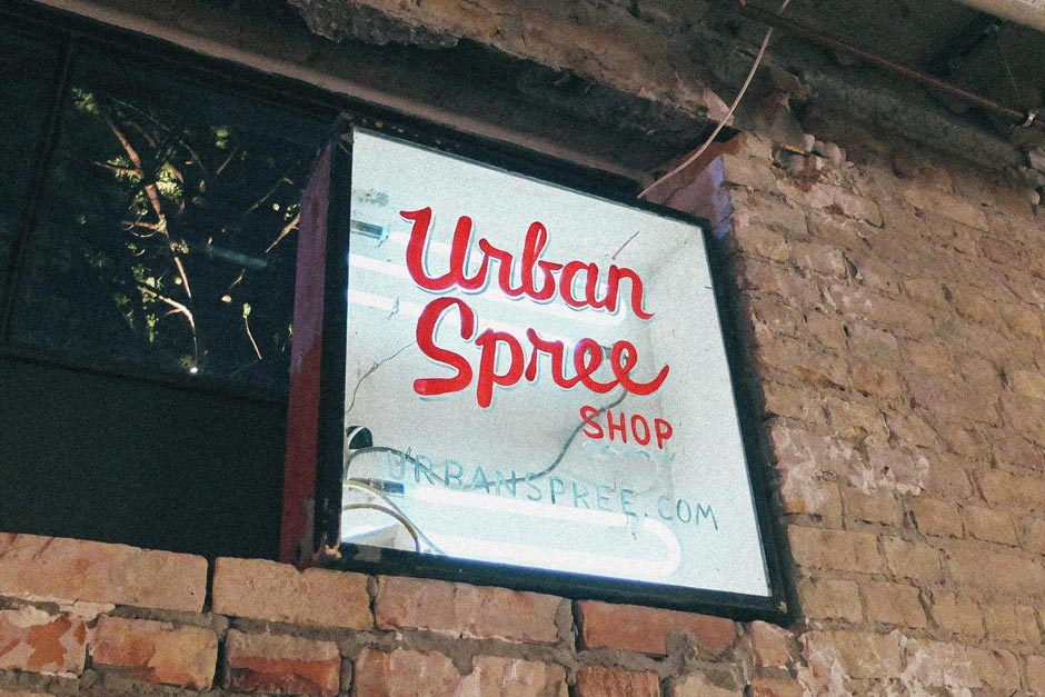 Urban Spree sign painting