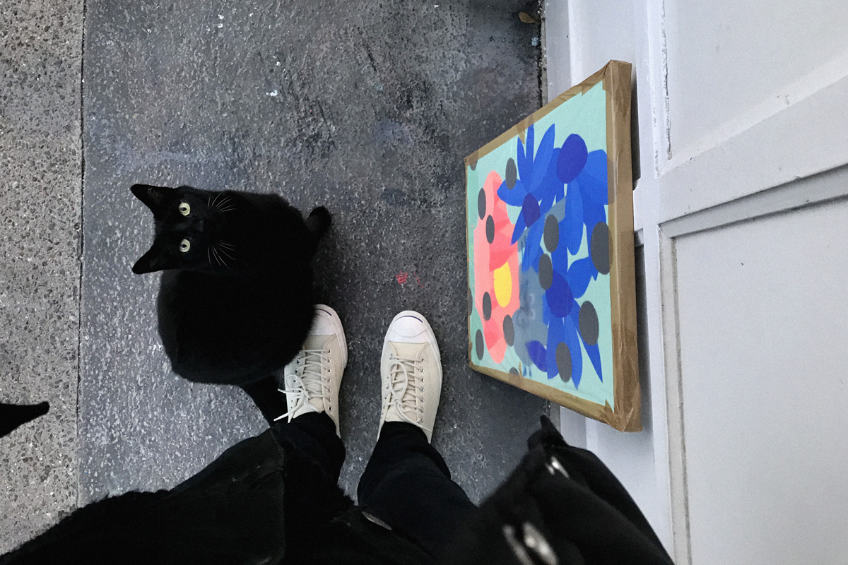 Ilk Painting Black Cat