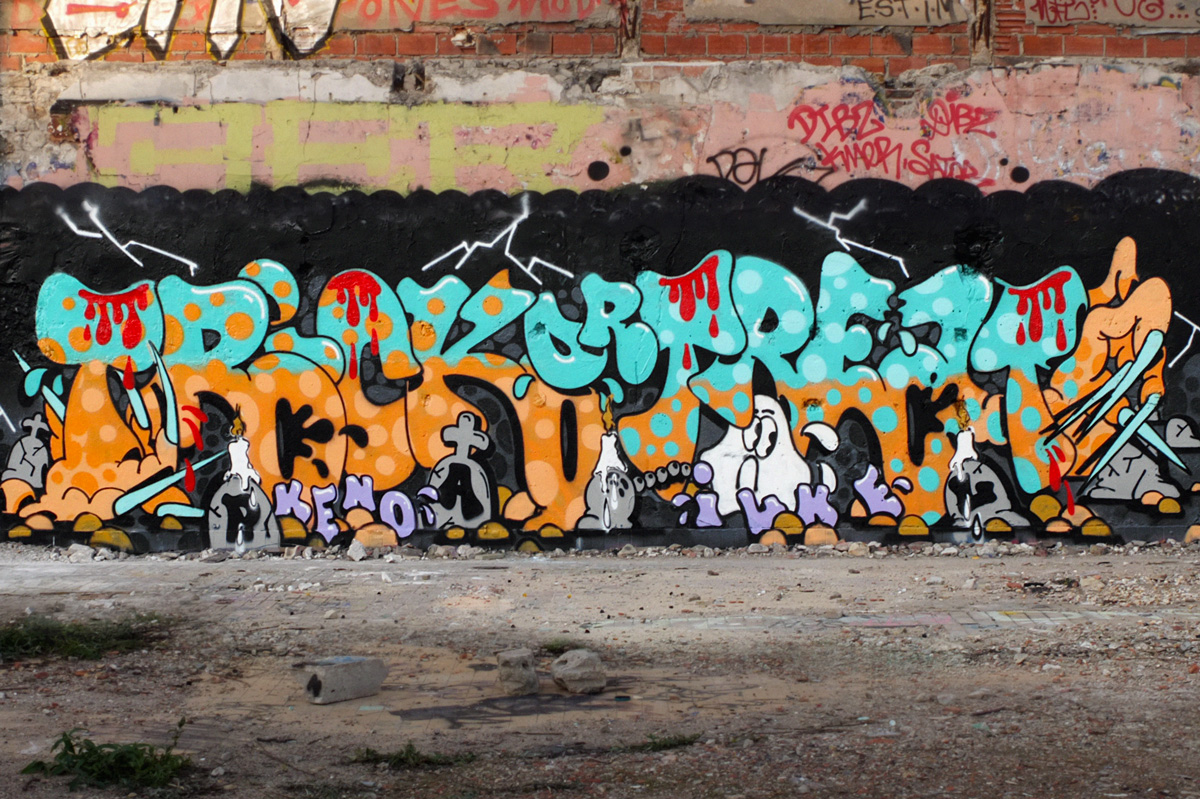 Trick Or Treat Ilk Keno Graffiti Halloween