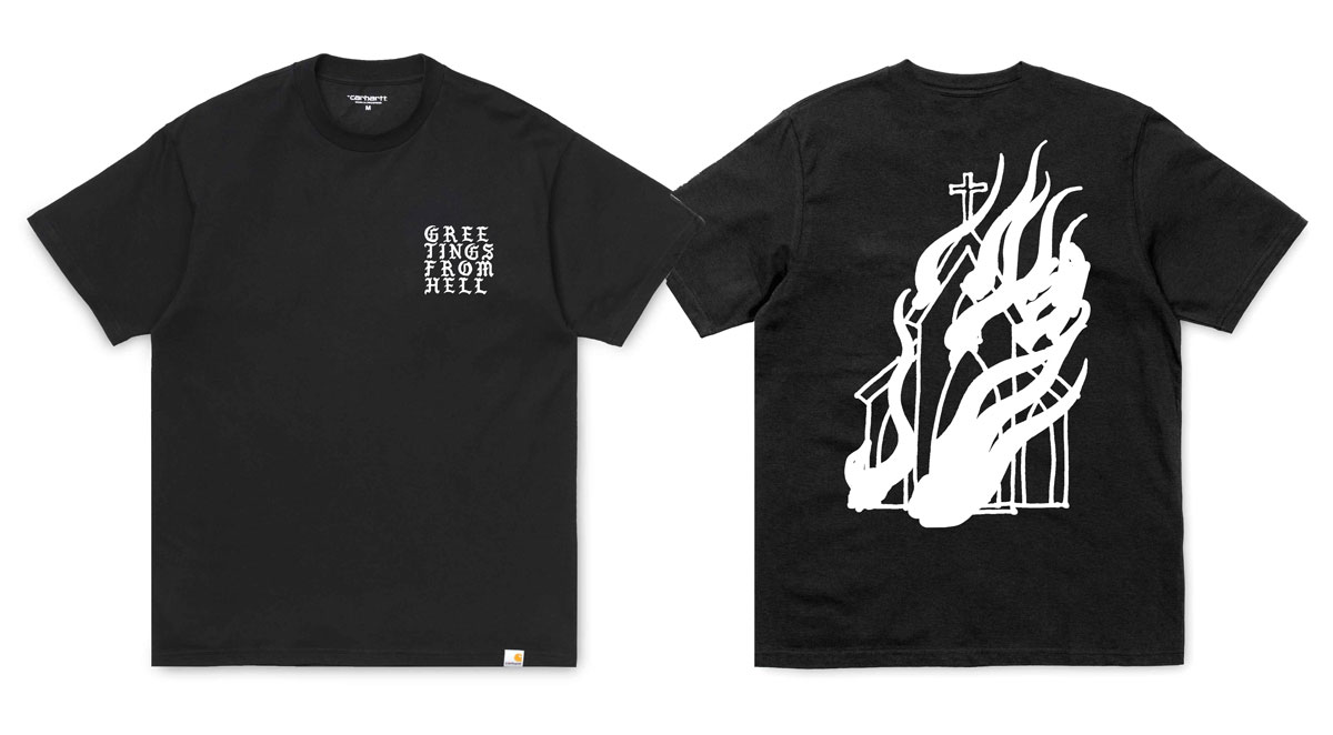 Ilk Clothing Greetings From Hell TS Carhartt Hellfest