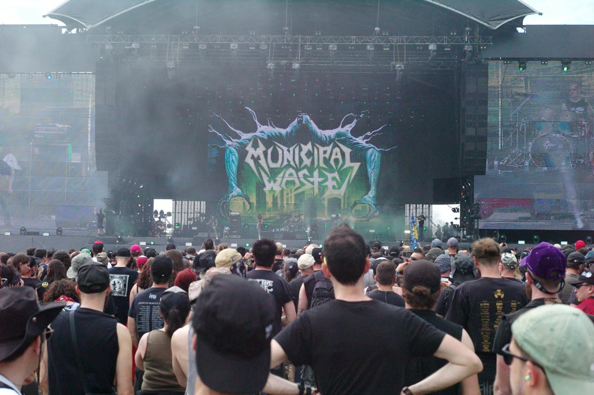 Hellfest Greetings From Hell Ilk Flottante Municipal Waste